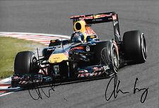 Vettel / Horner / Newey SIGNED 12x8, F1 Red Bull R7 , Japanese GP Suzuka  2011