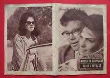 ZBRODNIARZ I PANNA 1963 POLISH  KRYZEWSKA CYBULSKI NASFETER EXYU MOVIE PROGRAM
