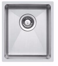 340 x 440mm Undermount/Inset Deep Single Bowl Stainless Steel Kitchen Sink LA016