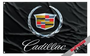 Cadillac Flag Banner (3x5 ft) General Motors GM American Car Racing Black