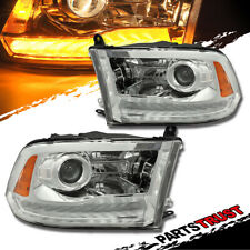 2009-2018 Dodge Ram 1500/2500/3500 Projector Chrome Headlights w/LED DRL