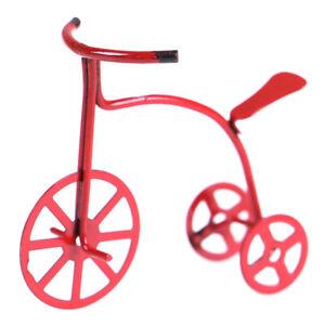 1X Miniature Dollhouse Bicicletta Rossa Decorazione Accessori Casa delle BaZZIT
