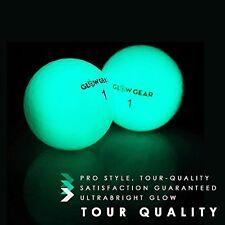 GlowV2 Night Golf Balls 2-Pack Best Hitting Ultra B Glow Golf Ball Compression C