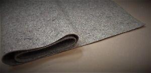Grauer Wollfilz 2,3,4,5,6,8,10 mm Grau Filzmatte Filzplatte Industriefilz