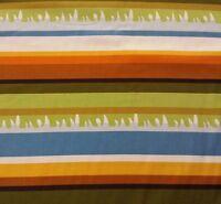 Safari Adventure BTY Camelot Cottons Grass Stripe Gold Orange Green Blue Black