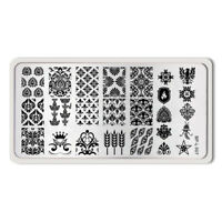 Nagel Schablone BORN PRETTY L007 Nail Art Stamp Stamping Template Plates