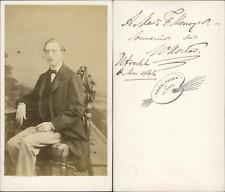 Henri Pronk, La Haye, Prague, portrait d'homme, envoi Vintage CDV albumen c