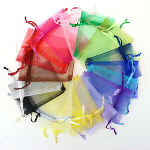 10pcs Organza Bags, size 9 x12cm, Gift  Jewellery Soap Scented Sachet Packaging
