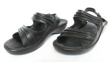 WOLKY Mandalay Womens Black Leather Adjustable Buckle Sandals Shoes 39 8 8.5