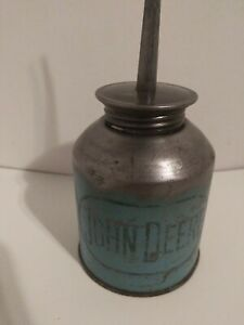 Vintage John Deere Oiler, Oil Can Blue Label- Gas & Oil Memorabilia- Tractors