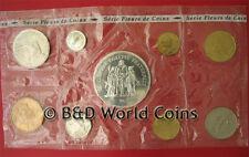 1974 FRANCE (9) COINS SPECIMEN FDC BU SET (1) SILVER COIN BOX+COA PARIS MINT