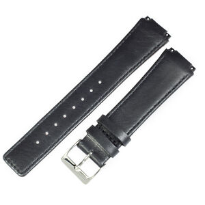 New Genuine leather black watchstrap wrist band TO FIT 331XLSLB SKAGEN watches