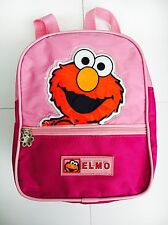 ELMO CHILDRENS RUCKSACK BACKPACK LUNCH BAG 25cmx20cmx8cm Fully Adjustable Straps