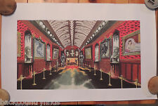 Disneyland Haunted Mansion Hall Way Concept Art HM 025 Lithograph Poster