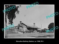 OLD LARGE HISTORIC PHOTO OF BUSSELTON WESTERN AUSTRALIA, RAILWAY STATION c1900