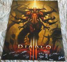 Blizzcon 2011 Official Diablo III 3 Signed Poster