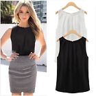 Womens Summer Loose Sleeveless Casual Chiffon Tank Top Vest Lady T-Shirt Blouse