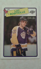 1988-89 OPC O-Pee-Chee Luc Robitaille Card 124   2nd Year Card  Nice Card