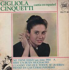 "GIGLIOLA CINQUETTI sings in Spanish 7"" EP 45 EUROVISION 1964 - No tiene edad"