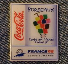 1998 World Cup Soccer Pin ~ Stadium Cities ~ Bordeaux ~ Sponsor~Coca Cola~Coke