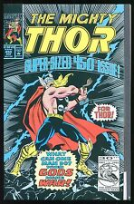 The Mighty Thor #450 What Can One Man Do? When Gods Make War! (Marvel 1992) C