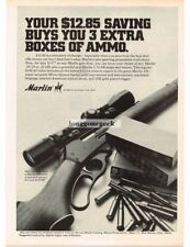 1969 MARLIN 336 Rifle Lever Action with Scope Vintage Print Ad