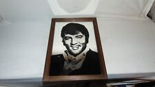 VINTAGE 8 X 12 FRAMED ELVIS MIRRORED PICTURE MADE IN ENGLAND