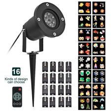16 Patterns Christmas Fairy Light Projector Moving Laser LED Outdoor Garden Lamp