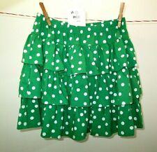 Hanna Andersson Green Polka Dot Ruffle Skirt NWT large