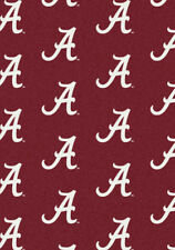 "5x8 Milliken Alabama Crimson Tide 1011 NCAA Repeat Area Rug - Approx 5'4""x7'8"""