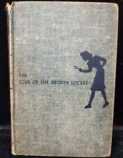 Vintage 1934 Nancy Drew The Clue of the Broken Locket Carolyn King A4-7