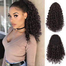 Drawstring Puff Ponytail Afro Kinky Curly Hair Extension Synthetic Clip in Pony