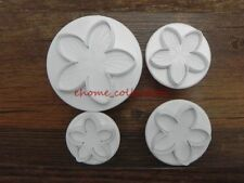 4x Rose Flower 5 Petal Sugarcraft Plunger Cutter Party Cake Decor DIY Easy Clean