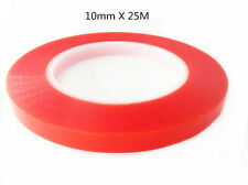 10mm x 25m Red Transparent Double Sided High Temperature Adhesive Tape