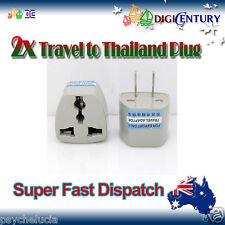 2x Power Plug Australia Travel to China, Japan, Thailand, Mexico Adapter 2 Pin