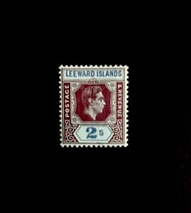 Leeward Islands SG 111ab 2/- Deep Purple & Blue/blue Mint