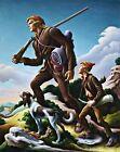 The Kentuckian Painting by Thomas Hart Benton Reproduction