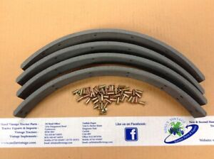 Ford 3600 Brake Shoes Lining Kit With Rivets