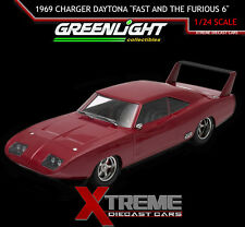 "GREENLIGHT 19003 1:18 1969 DOM'S DODGE CHARGER DAYTONA ""FAST AND THE FURIOUS 6"""