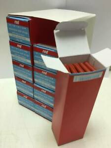 Red Expansion Wall/Rawl Plugs Drill Size 5.5mm - 10x Boxes of 100 (1000) - NEW