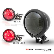 Black Mini Bates Motorcycle Rear Tail Light Lamp 4 Harley Chopper Cafe Racer