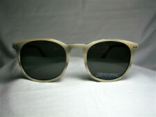 Matt Black sunglasses round panto oval women's men's unisex hyper vintage NOS