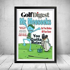 Rick and Morty Sanchez Mr Meeseeks Golf Digest Adult Swim Gift Funny Poster Art