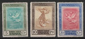 SPAIN:1930 SC#C21-C23 MH/MNG Asmodeus and Cleofas Goya Issue R202