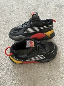 Puma Boys Kids Infant Black Trainers Shoes Size UK Infant 8 EU 25
