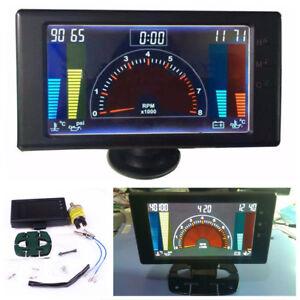"""5"""" 6 IN 1 Car LED Tachometer,Volts,Clock,RPM,Water Temp,Oil Temp,Oil Press Gauge"""
