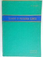 Elementi di psicologia clinicaArian enzo Minerva Medica1958medicina torino 05