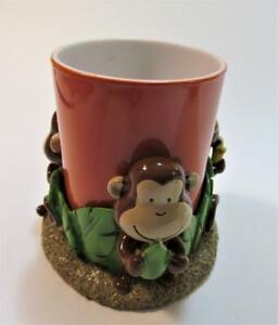 MONKEY Tumbler Kids Novelty Bath Jenny Jeff Monkeys Jungle 2 piece