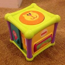 "Fisher Price Growing Baby Animal Activity Cube - Block 6 Sides 4"" Wide, Bhx66"