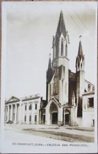 Camaguey, Cuba 1930 Realphoto Postcard: Iglesia San Francisco - Camagüey